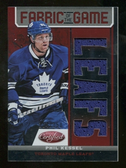 2012/13 Panini Certified Fabric of the Game Mirror Red Jersey Team Die Cut #15 Phil Kessel /150