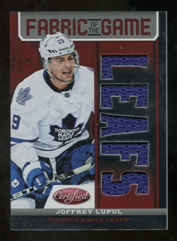 2012/13 Panini Certified Fabric of the Game Mirror Red Jersey Team Die Cut #67 Joffrey Lupul /150
