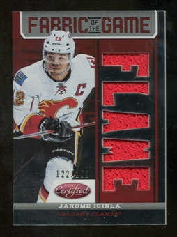 2012/13 Panini Certified Fabric of the Game Mirror Red Jersey Team Die Cut #83 Jarome Iginla /150