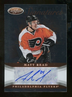2012/13 Panini Certified Signatures #48 Matt Read Autograph