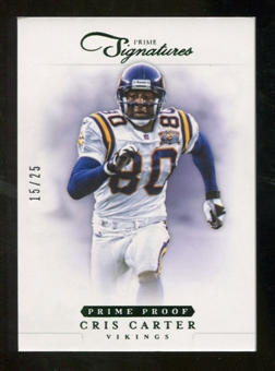 2012 Panini Prime Signatures Prime Proof Green #175 Cris Carter /25