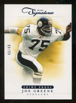 2012 Panini Prime Signatures Prime Proof Blue #138 Joe Greene /49
