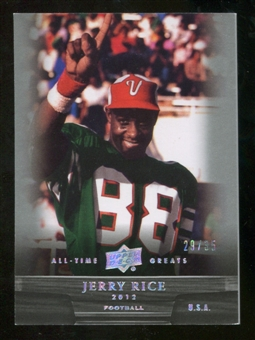 2012 Upper Deck All-Time Greats Silver #25 Jerry Rice /35