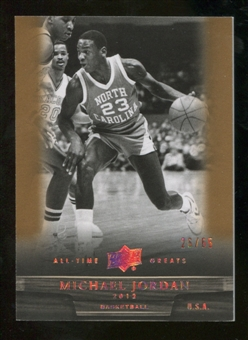2012 Upper Deck All-Time Greats Bronze #4 Michael Jordan /65