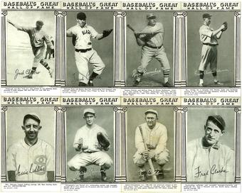 1948 Baseball's Great HOF Exhibit Baseball Card Lot 24 Cards