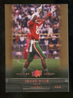 2012 Upper Deck All-Time Greats Bronze #21 Jerry Rice /65