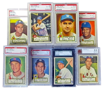 1952 Topps Baseball Graded Starter Set (142 Different) (PSA, SGC and BVG)
