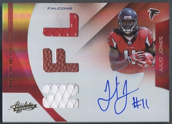 2011 Absolute Memorabilia #226 Julio Jones RPM Rookie Jersey Ball Auto #100/299