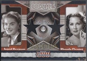 2011 Americana Co-Stars #6 Ingrid Bergman & Rhonda Fleming Material Golden Era Shirt #43/49