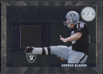 2011 Totally Certified #23 George Blanda Heritage Collection Jersey #242/249