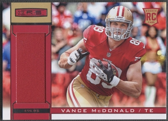 2013 Rookies and Stars #239 Vance McDonald Rookie Jersey