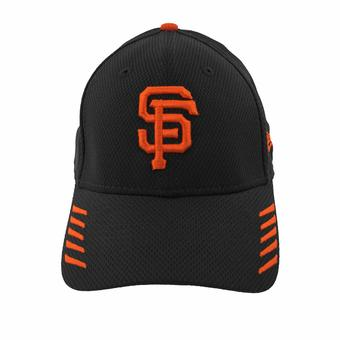 San Francisco Giants New Era 39Thirty Black Tech Grade Flex Fit Hat (Adult L/XL)