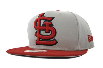 St. Louis Cardinals New Era 9Fifty Gray Grand Redux Flat Brim Snapback Hat (Adult One Size)