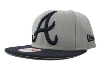 Atlanta Braves New Era 9Fifty Gray Grand Redux Flat Brim Snapback Hat (Adult One Size)