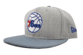Philadelphia 76ers New Era 9Fifty Gray Action Flat Brim Snapback Hat (Adult OSFA)