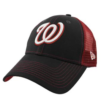 Washington Nationals New Era 9Forty Navy Bold Mesher Adjustable Hat (Adult OSFA)