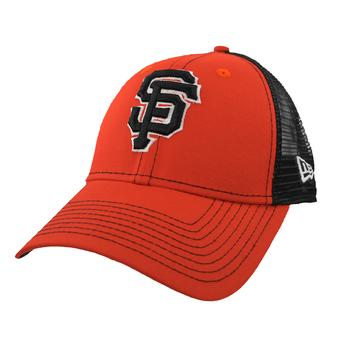 San Francisco Giants New Era 9Forty Orange Bold Mesher Adjustable Hat (Adult OSFA)