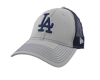Los Angeles Dodgers New Era 9Forty Gray Bold Mesher Adjustable Hat (Adult OSFA)