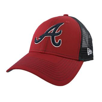 Atlanta Braves New Era 9Forty Red Bold Mesher Adjustable Hat (Adult OSFA)