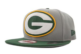 Green Bay Packers New Era 9Fifty Gray Grand Redux Flat Brim Snapback Hat (Adult One Size)