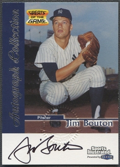 1999 Sports Illustrated #9 Jim Bouton Greats of the Game Auto