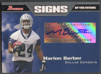 2005 Bowman #SFMBA Marion Barber Signs of the Future Rookie Auto