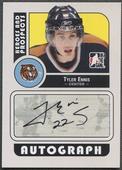 2008/09 ITG Heroes and Prospects #ATE Tyler Ennis Rookie Auto