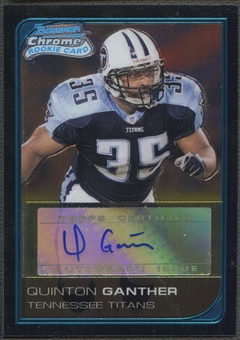 2006 Bowman Chrome #240 Quinton Ganther Rookie Auto