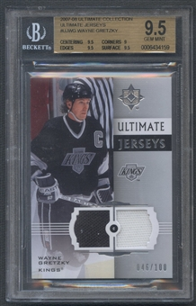 2007/08 Ultimate Collection #UJWG Wayne Gretzky Jersey #046/100 BGS 9.5
