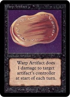 Magic the Gathering Alpha Single Warp Artifact UNPLAYED (NM/MT)