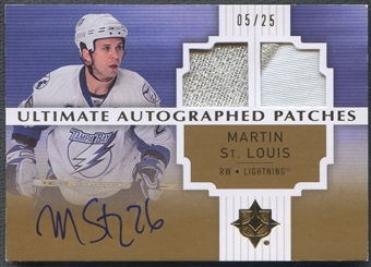 2007/08 Ultimate Collection #AJMS Martin St. Louis Patch Auto #05/25
