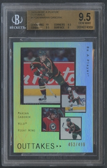 2005/06 Be A Player #OT26 Marian Gaborik Outtakes #452/499 BGS 9.5