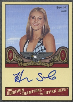 2011 Upper Deck Goodwin Champions #HS Hope Solo Auto