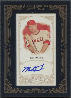2012 Topps Allen and Ginter #MT Mark Trumbo Auto