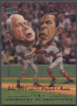2008 Upper Deck #PP11 Barack Obama & John McCain Presidential Running Mate Predictors