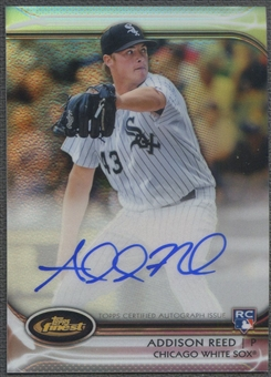 2012 Finest #AR Addison Reed Rookie Refractor Auto #143/198
