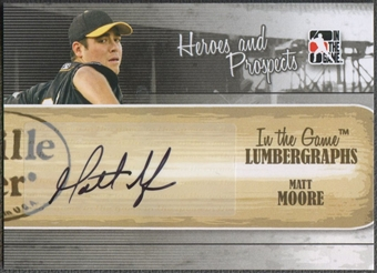 2011 ITG Heroes and Prospects #MM Matt Moore Lumbergraphs Auto