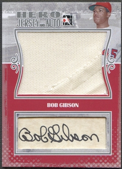 2011 ITG Heroes and Prospects #2 Bob Gibson Heroes Silver Jersey Auto