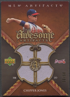 2007 Artifacts #CJ Chipper Jones Awesome Artifacts Jersey #50/50