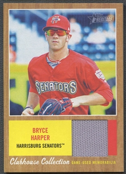 2011 Topps Heritage Minors #BH Bryce Harper Clubhouse Collection Relics Jersey