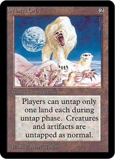 Magic the Gathering Alpha Single Winter Orb - SLIGHT PLAY (SP)