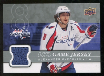 2008/09 Upper Deck Game Jerseys #GJAO Alexander Ovechkin