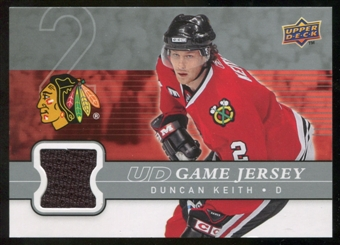 2008/09 Upper Deck Game Jerseys #GJDK Duncan Keith