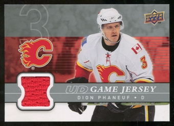 2008/09 Upper Deck Game Jerseys #GJDP Dion Phaneuf