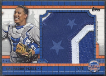 2013 Topps Update #SP Salvador Perez All Star Jumbo Patch #5/6