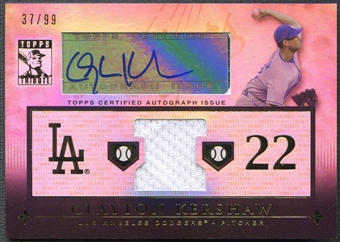 2010 Topps Tribute #CK4 Clayton Kershaw Jersey Auto #37/99