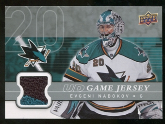 2008/09 Upper Deck Game Jerseys #GJEN Evgeni Nabokov
