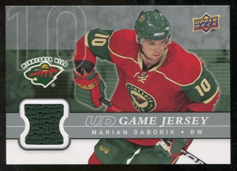 2008/09 Upper Deck Game Jerseys #GJGA Marian Gaborik