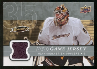 2008/09 Upper Deck Game Jerseys #GJJG Jean-Sebastien Giguere