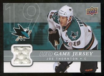 2008/09 Upper Deck Game Jerseys #GJJT Joe Thornton
